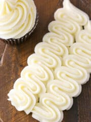 Cream Cheese Frosting - perfect for piping on cupcakes and cakes!