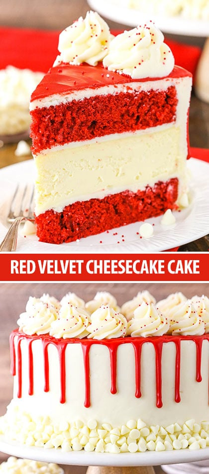 Pinterest collage Red Velvet Cheesecake Cake