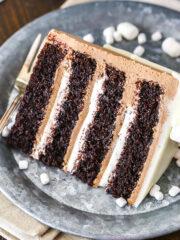 Hot Chocolate Cake slice