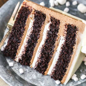 Hot Chocolate Cake slice