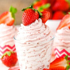 Image of Strawberry Whipped Cream in glass