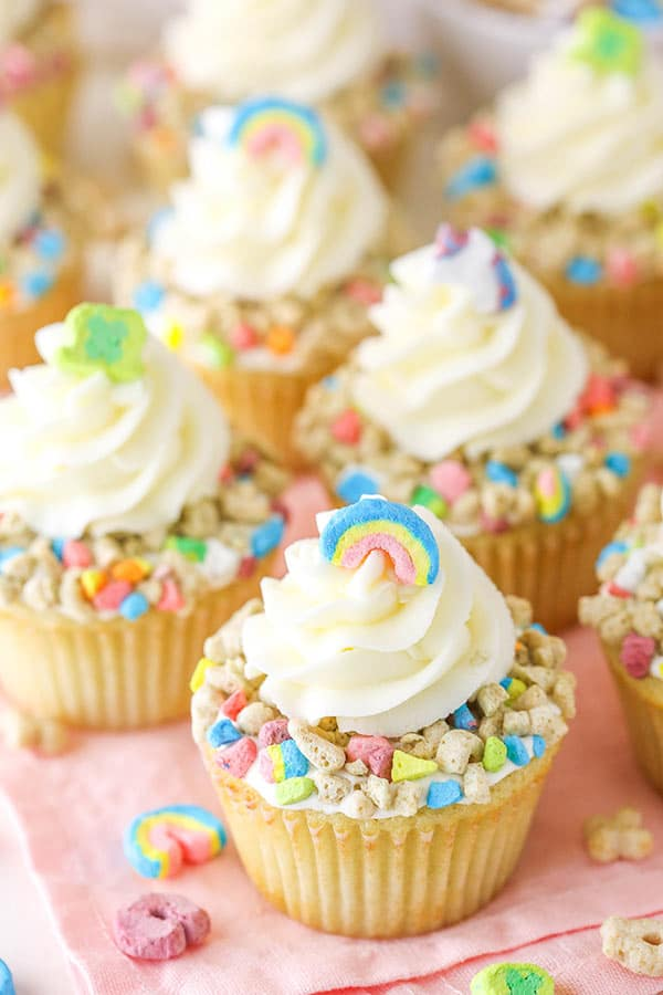 lucky charms cupcakes from above