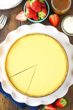 Overhead image of Classic Cheesecake
