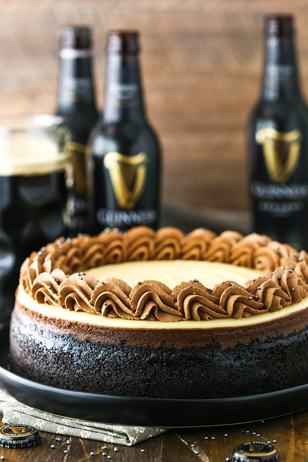 guinness chocolate cheesecake from the side