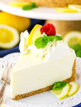 No Bake Lemon Cheesecake Recipe | Easy No Bake Cheesecake