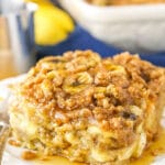 Overnight Baked Banana French Toast Casserole