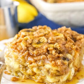 Overnight Banana French Toast Casserole