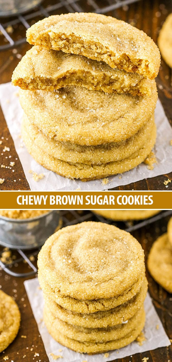 Easy Chewy Brown Sugar Cookies - made with plenty of brown sugar for a soft and chewy cookie that's a delicious spin on the classic!
