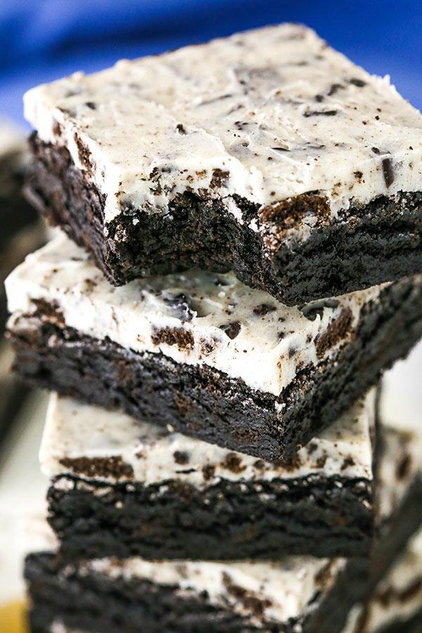 Fudgy Cookies Amp Cream Brownies Recipe Easy Oreo Brownies