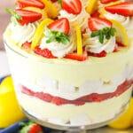 Easy Lemon Strawberry Trifle