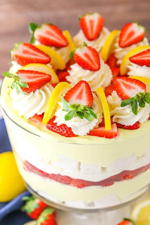 Lemon Strawberry Trifle