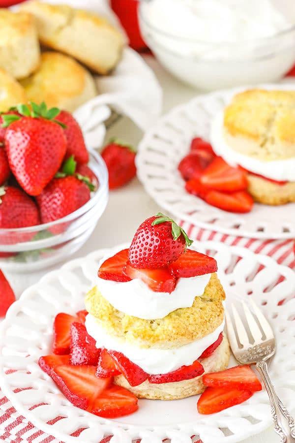 Easy Strawberry Shortcake on plate