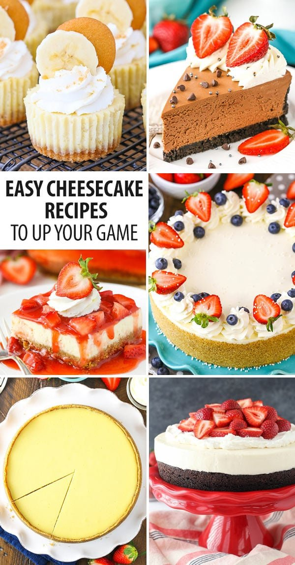 Easy cheesecake recipes collage