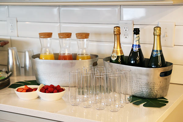 The Mimosa Bar for the Adults at Ashton and Brooks' Birthday Party