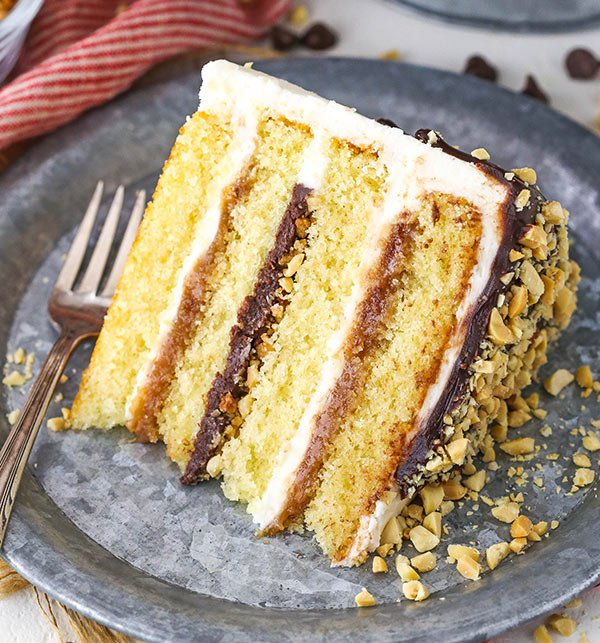 layered cake slice