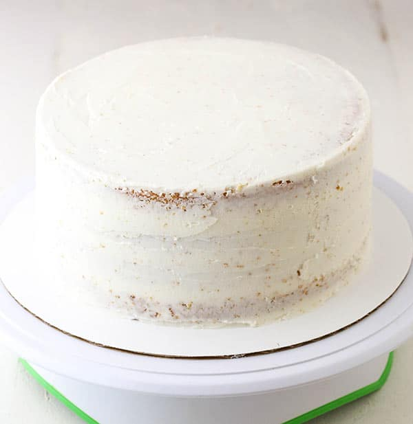 cake with a crumb coat