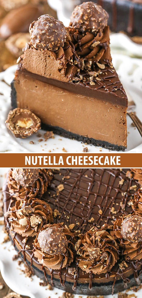 nutella cheesecake collage
