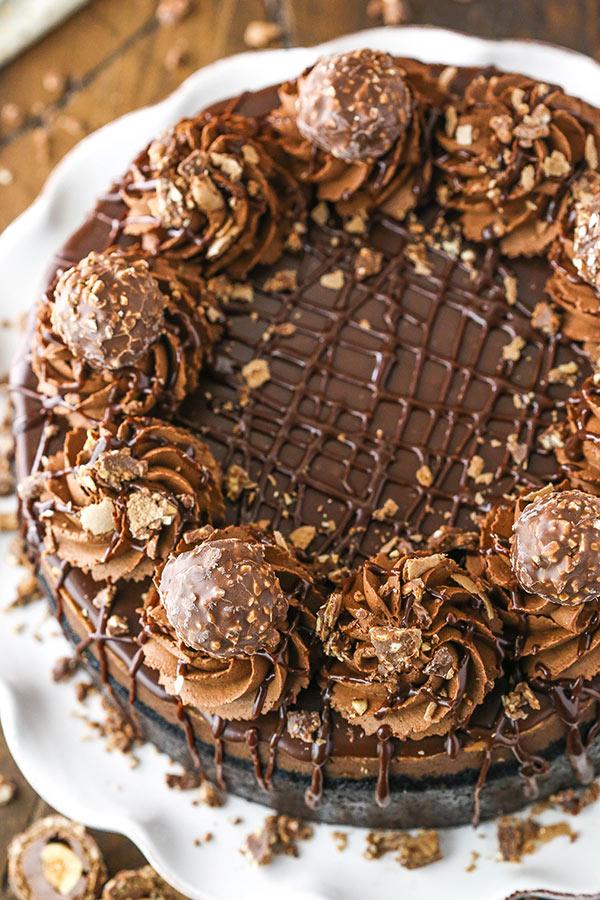 full nutella cheesecake