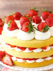 Picture of a strawberry shortcake cake