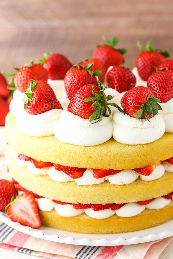 Easy Strawberry Shortcake Cake Recipe Life Love And Sugar