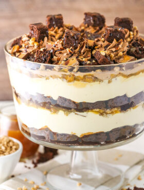 Image of Caramel Cheesecake Brownie Trifle