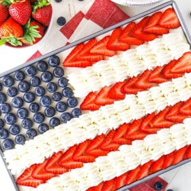 Image of Angel Food Flag Cake