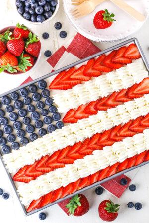 Image of Angel Food Flag Cake