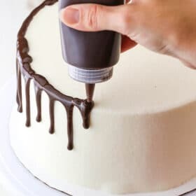 Image of Chocolate Drip applied to Cake