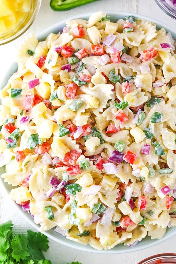 Pasta Salad overhead shot