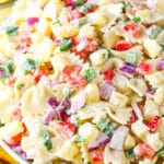 Pineapple Salsa Pasta Salad