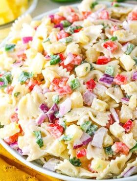 Pineapple Salsa Pasta Salad recipe
