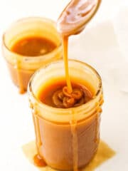 Overhead image of Salted Caramel Sauce