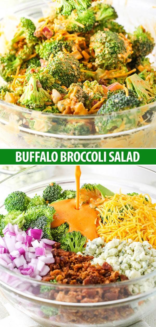 Buffalo Broccoli Salad collage