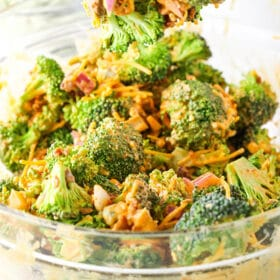 image of Buffalo Broccoli Salad in bowl