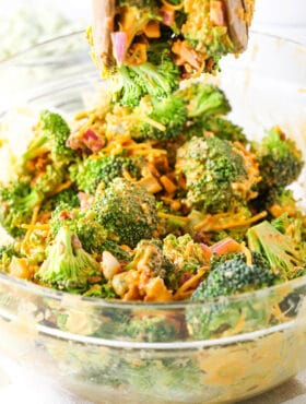 image of Buffalo Broccoli Salad in bowl