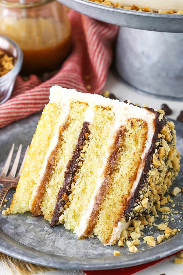 slice of drumstick layer cake