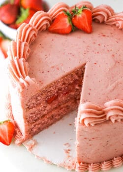 Full image of Homemade Fresh Strawberry Cake