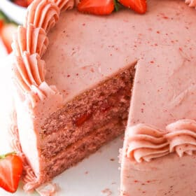 Full image of Homemade Fresh Strawberry Cake