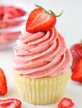 The BEST Homemade Strawberry Frosting | How to Make Frosting