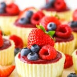 Mini Berry Almond Cheesecakes | Low Carb & Gluten Free Keto Dessert