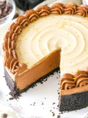 No Bake Baileys Chocolate Cheesecake image
