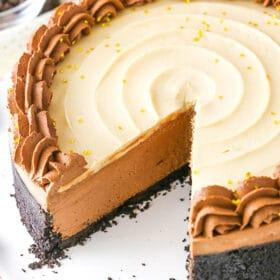 No Bake Baileys Chocolate Cheesecake image