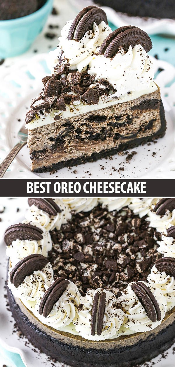 Best Oreo Cheesecake collage for Pinterest