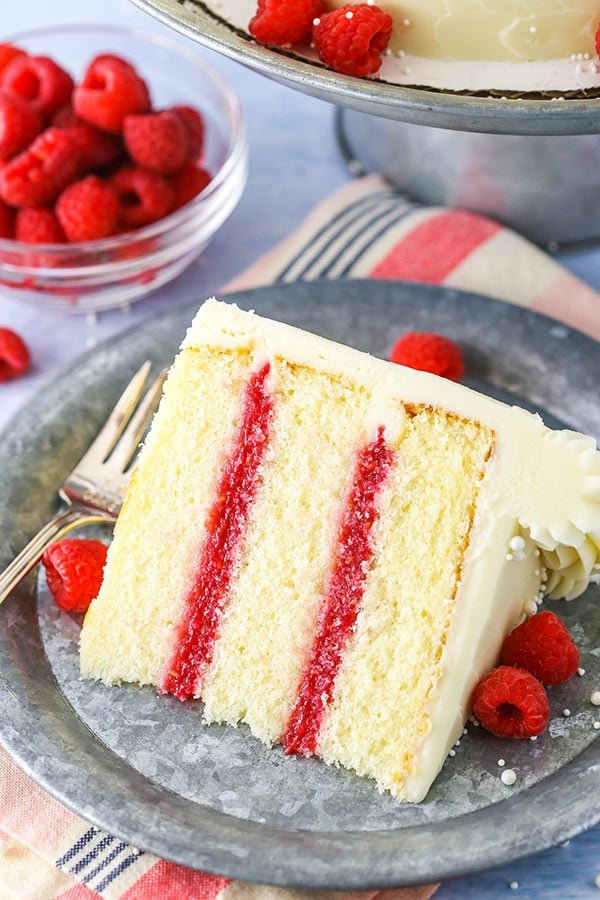 slice of raspberry dream cake