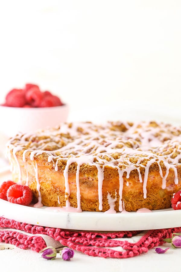 Raspberry Rose Coffee Cake