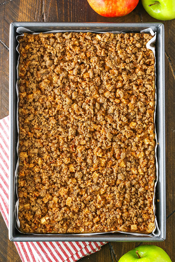 Apple Streusel Cheesecake Bars recipe