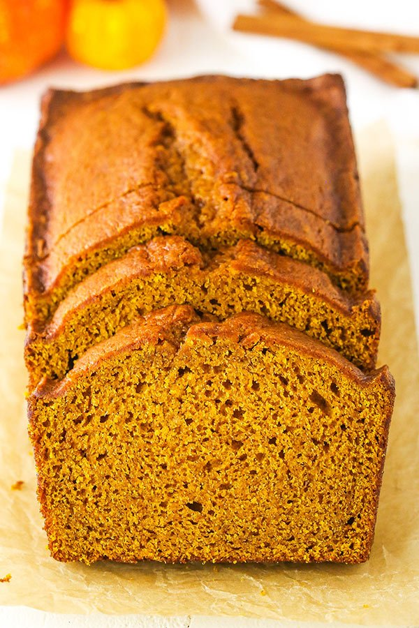 This Pumpkin Bread recipe is soft, moist and full of flavor with lots of pumpkin and spice! It's easy to make and made with butter, instead of oil.