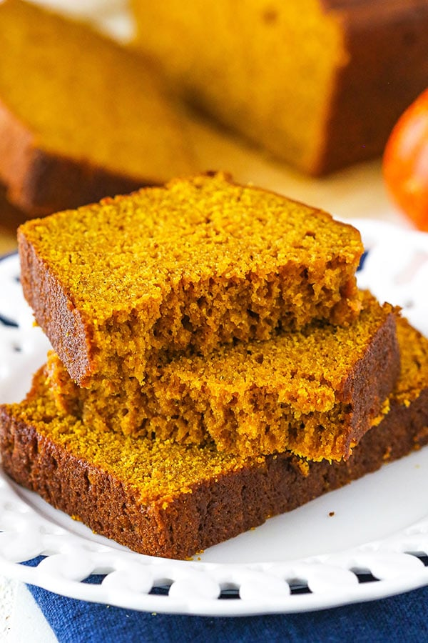 Pumpkin bread slices