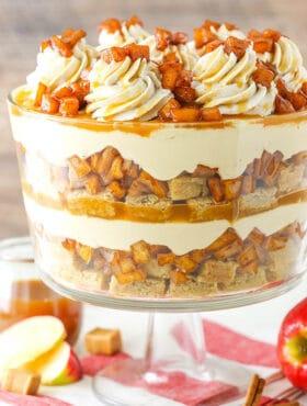 Full image of Caramel Apple Cheesecake Blondie Trifle