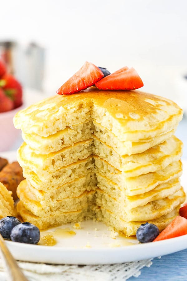 Fluffy Homemade Pancakes Recipe Life Love And Sugar